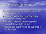 what is the dsm iv tr