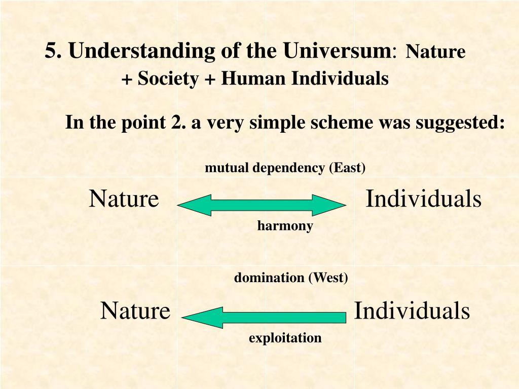 5. Understanding of the Universum