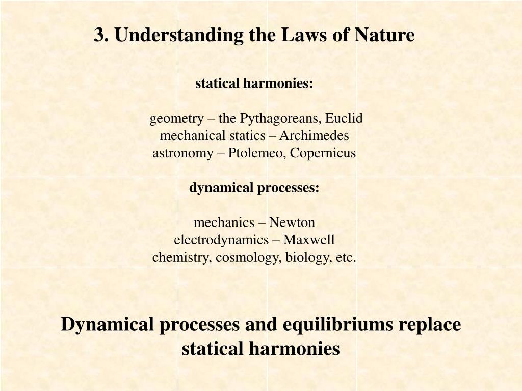 3. Understanding the Laws of Nature