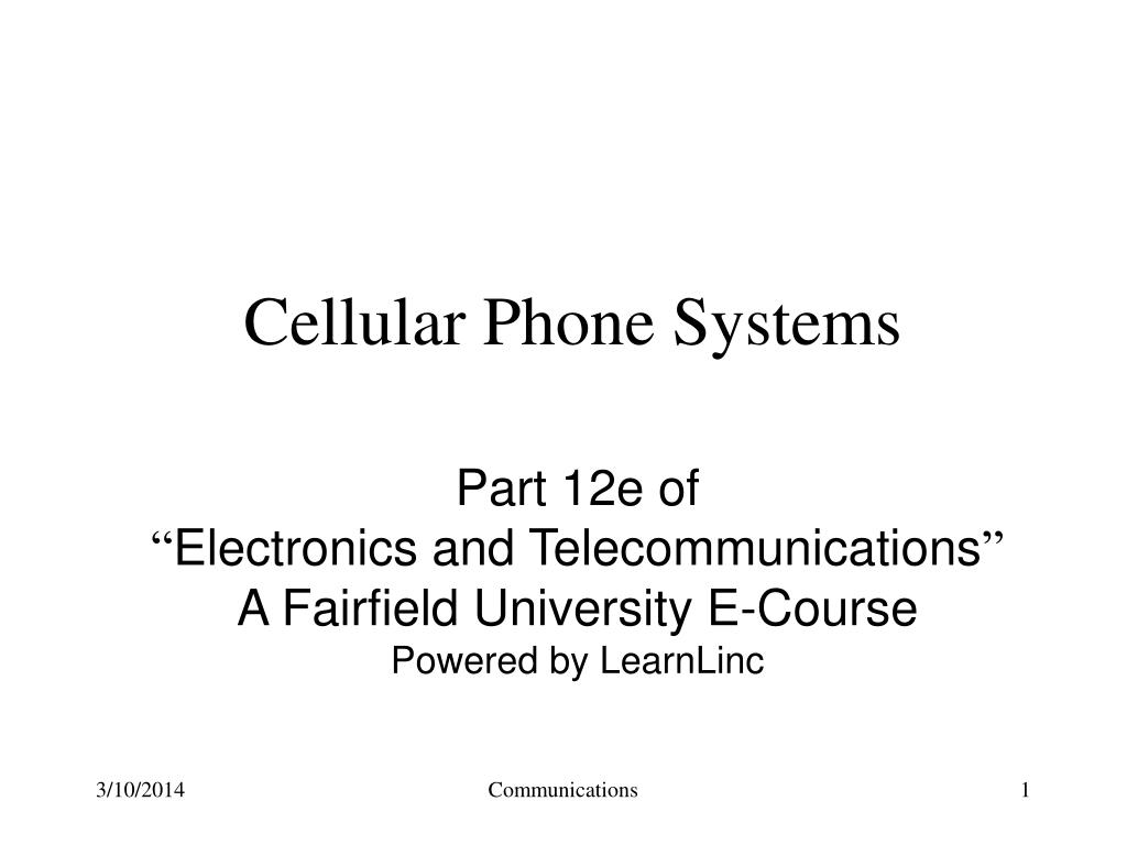cellular phone systems l.