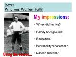 date who was walter tull