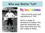 who was walter tull