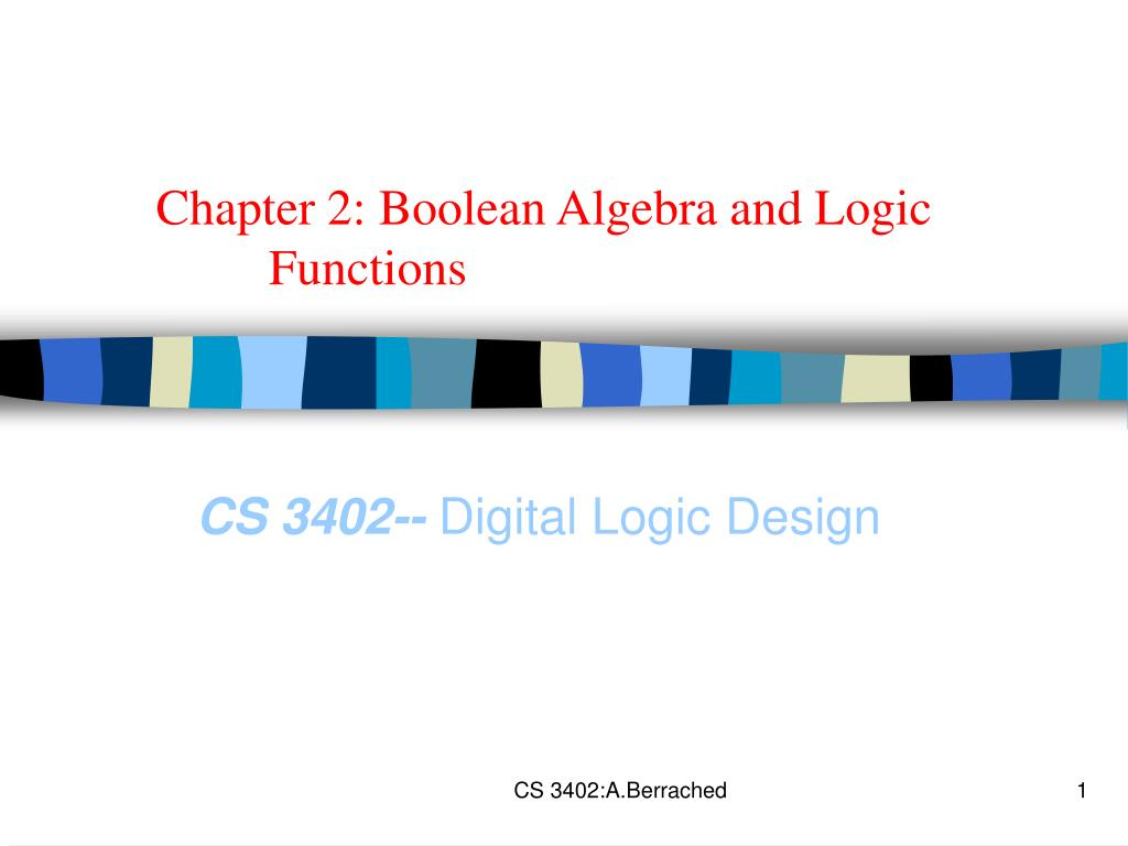 Ppt Chapter 2 Boolean Algebra And Logic Functions Powerpoint Diagram Expression L