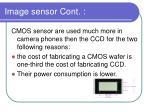 image sensor cont
