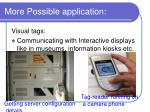 more possible application