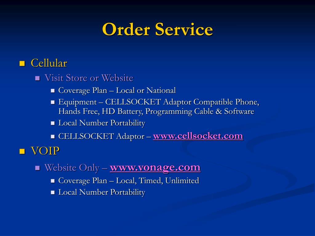 Order Service