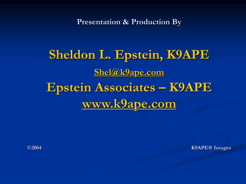 Presentation & Production By