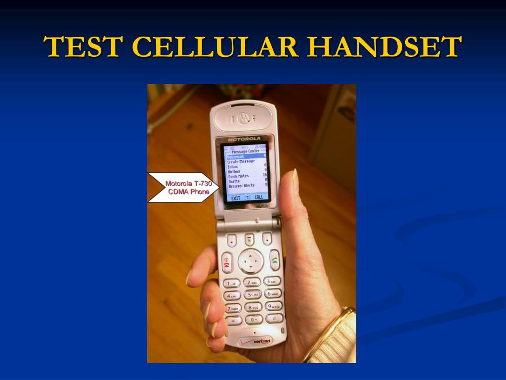 TEST CELLULAR HANDSET
