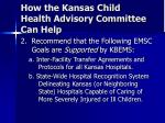 how the kansas child health advisory committee can help27