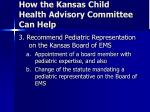 how the kansas child health advisory committee can help28