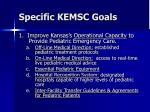 specific kemsc goals16