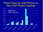 road class for cell phone vs non cell phone crashes