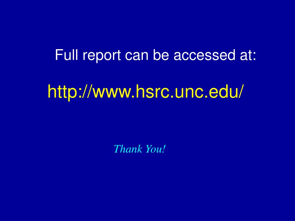 Full report can be accessed at: