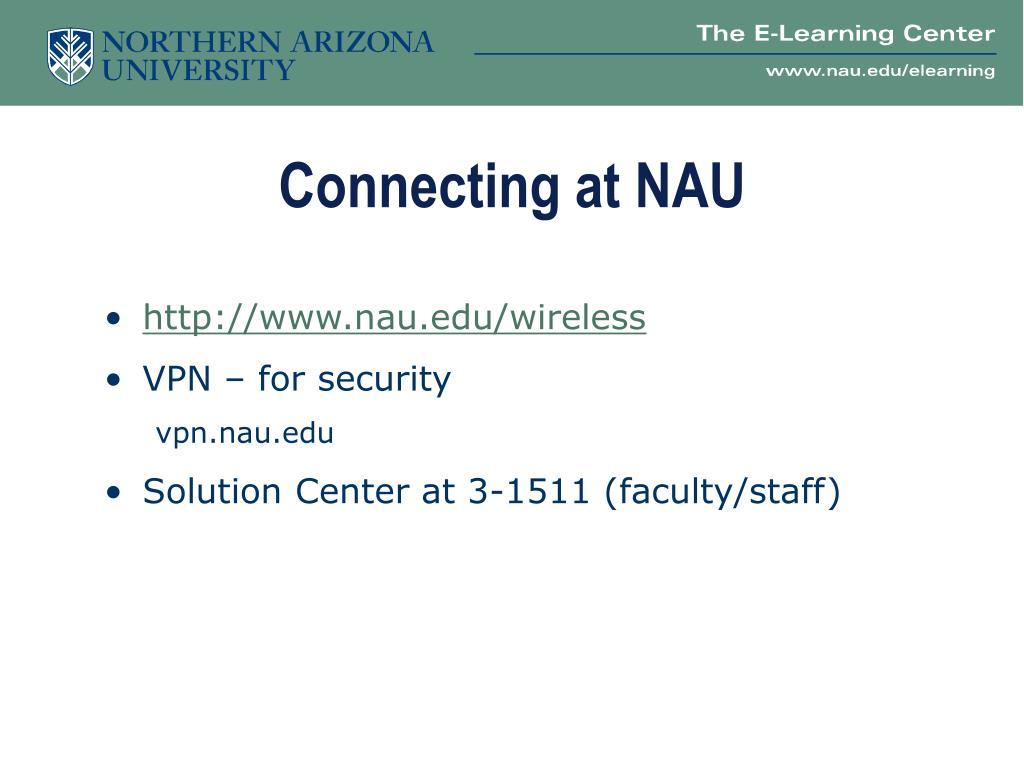 Connecting at NAU