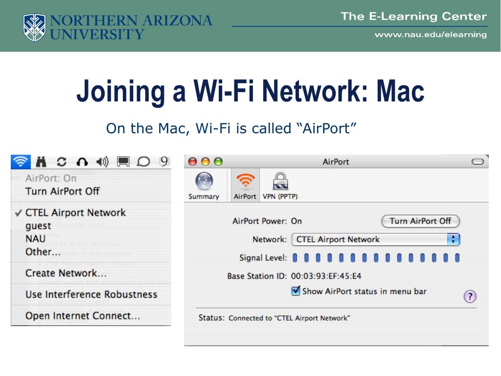 Joining a Wi-Fi Network: Mac