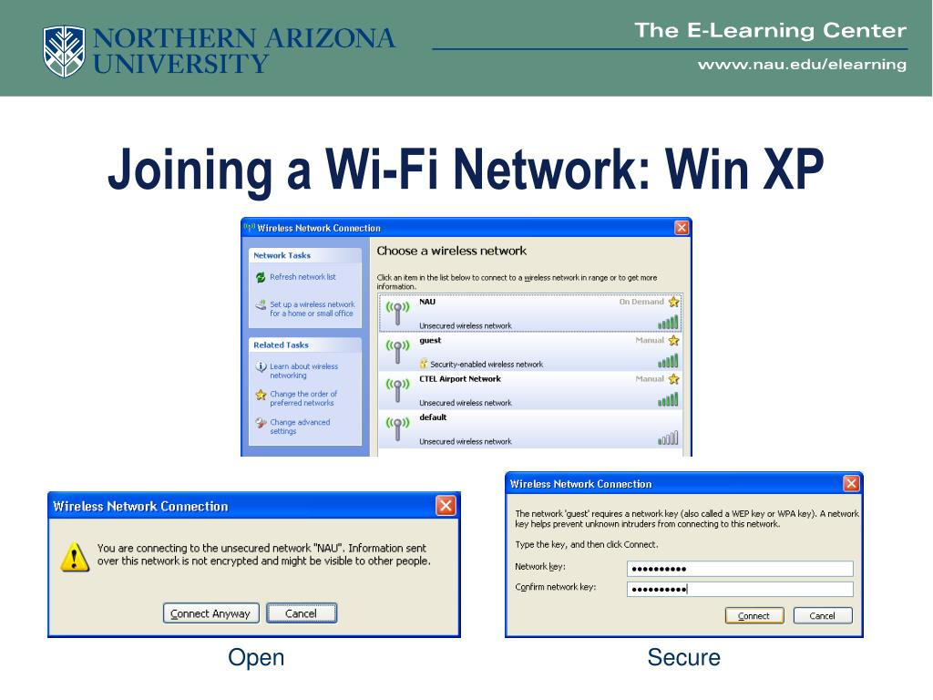 Joining a Wi-Fi Network: Win XP
