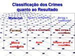 classifica o dos crimes quanto ao resultado