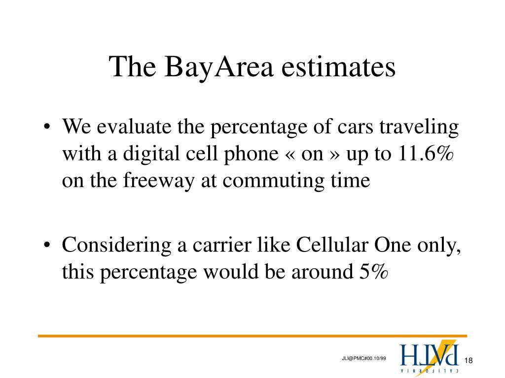 The BayArea estimates