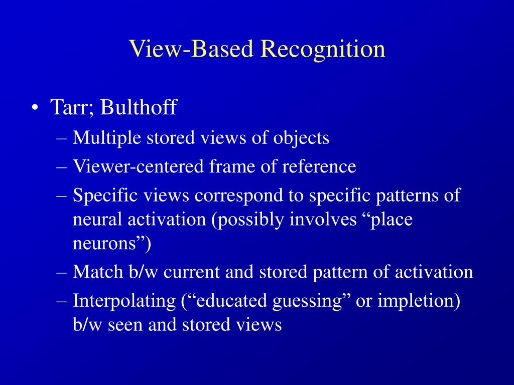 View-Based Recognition