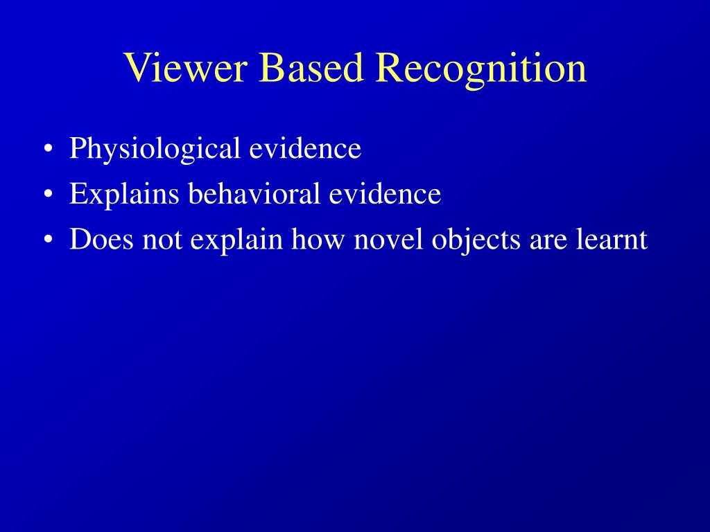 Viewer Based Recognition