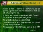 administrative items 2