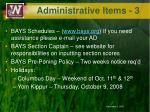 administrative items 3