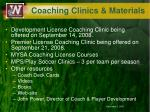 coaching clinics materials
