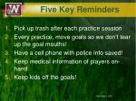 five key reminders3