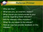 referee primer
