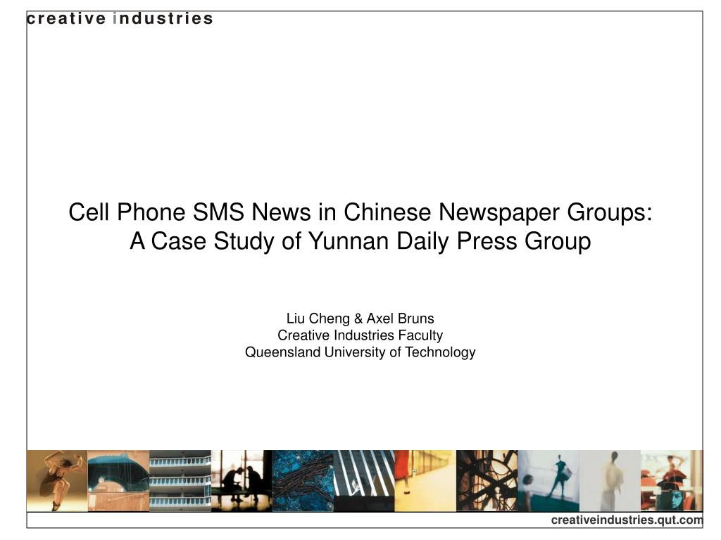 Cell Phone SMS News in Chinese Newspaper Groups: