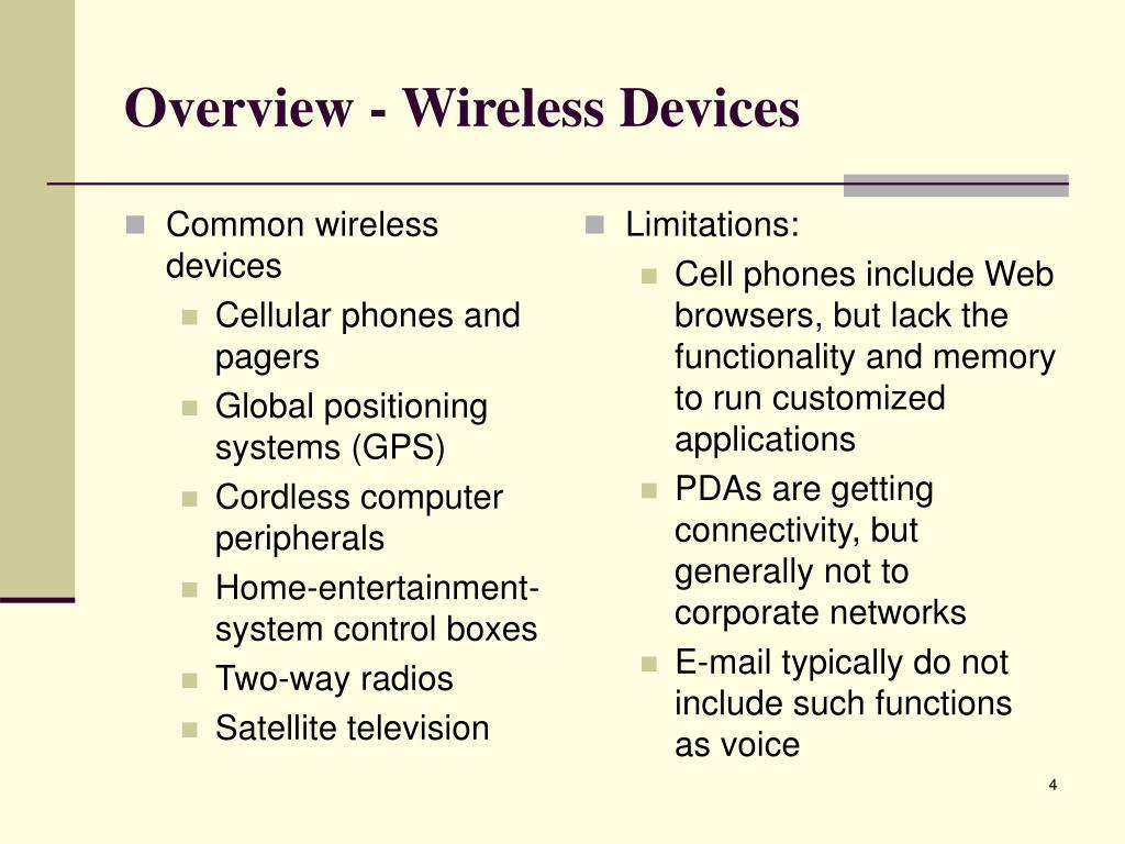 Common wireless devices