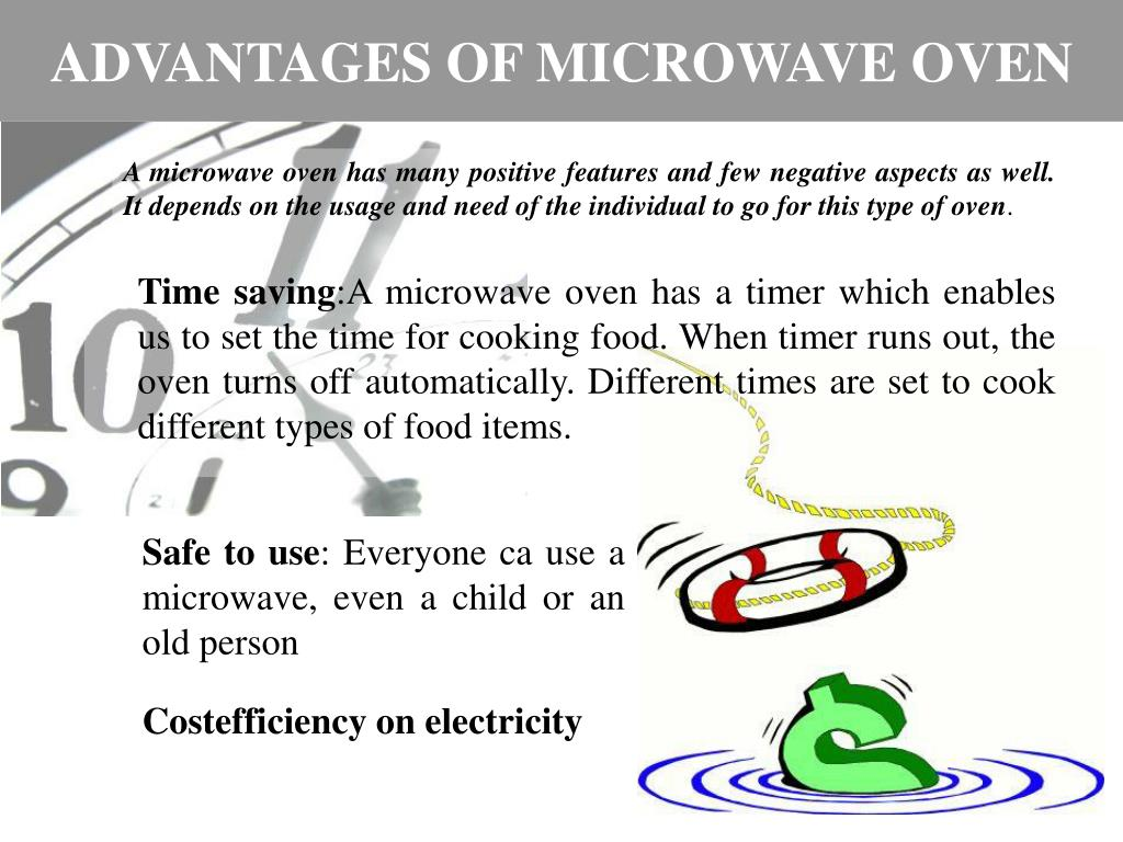 ADVANTAGES OF MICROWAVE OVEN