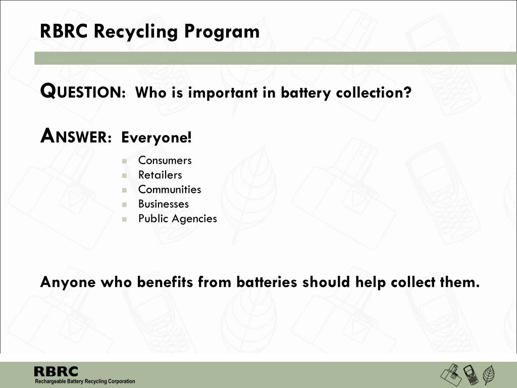 RBRC Recycling Program