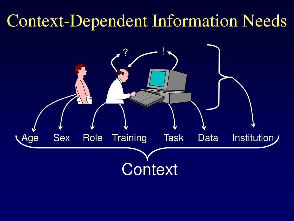 Context-Dependent Information Needs