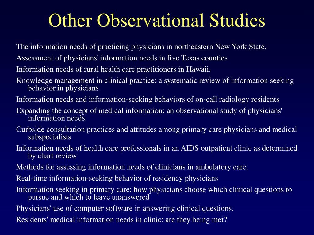 Other Observational Studies