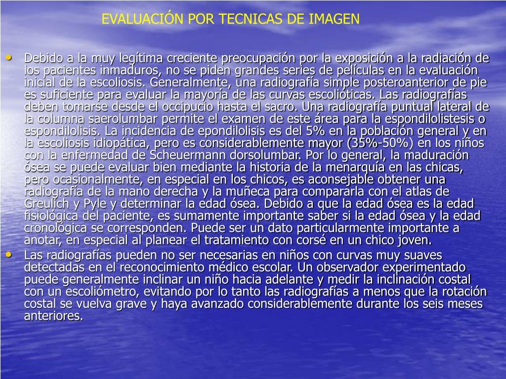 EVALUACIÓN POR TECNICAS DE IMAGEN