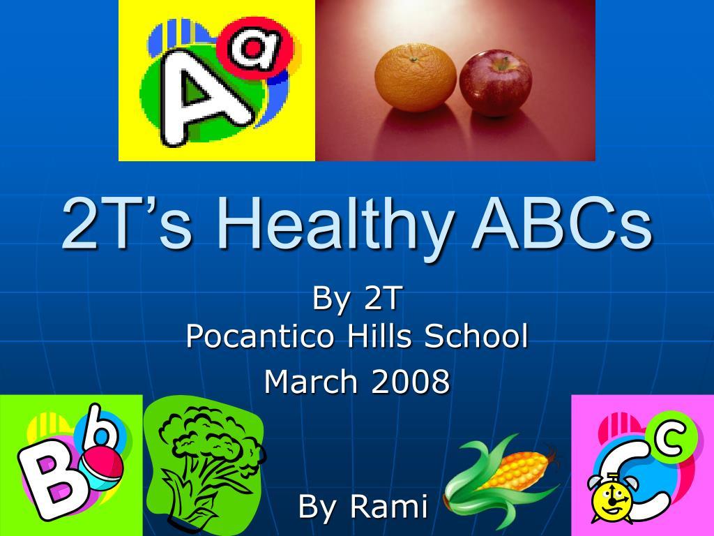 2t s healthy abcs l.