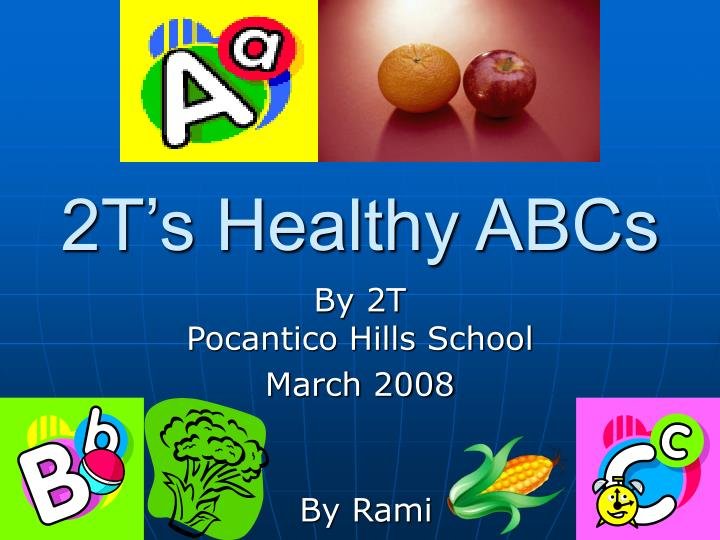 2t s healthy abcs