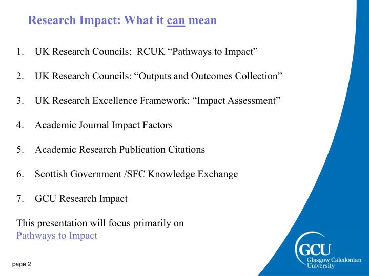 Research Impact: What it