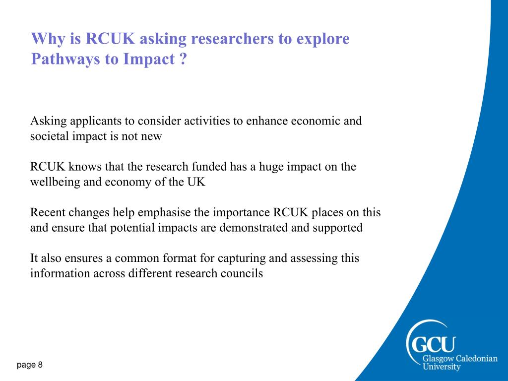 Why is RCUK asking researchers to explore