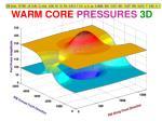 warm core pressures 3d1