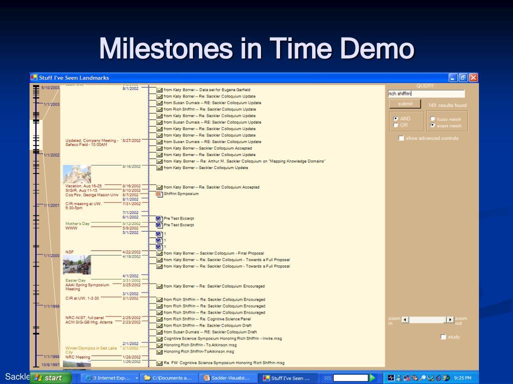 Milestones in Time Demo