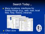search today