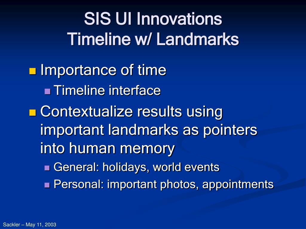 SIS UI Innovations