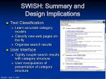 swish summary and design implications