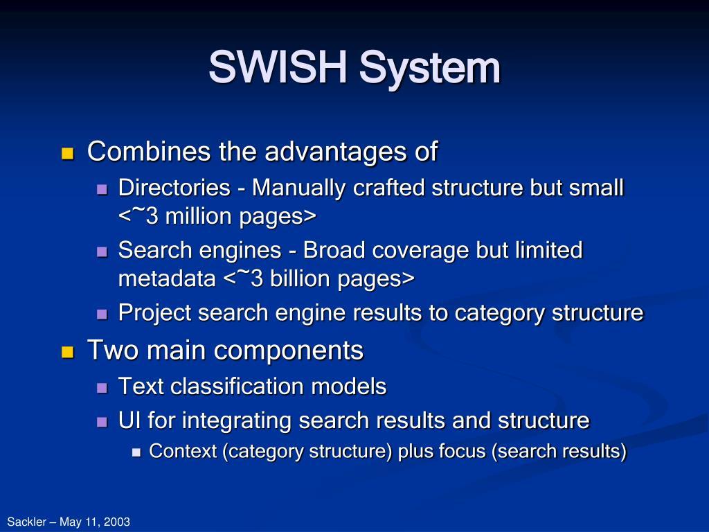 SWISH System