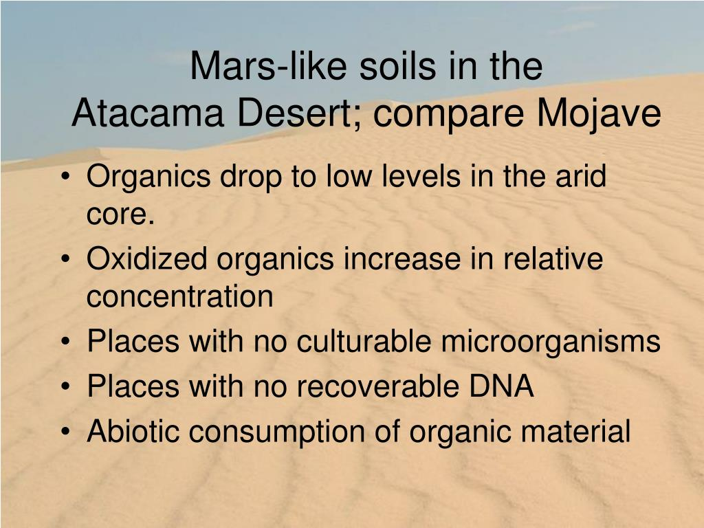 Mars-like soils in the