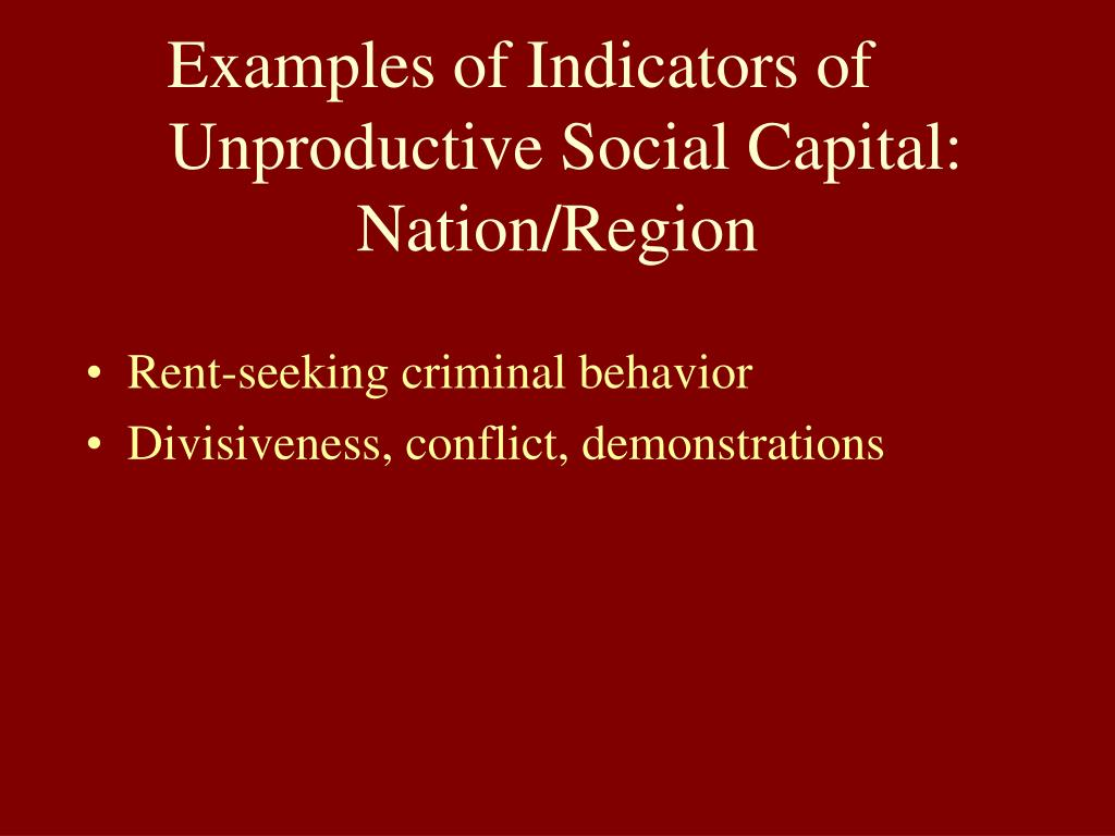 Examples of Indicators of