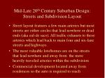 mid late 20 th century suburban design streets and subdivision layout