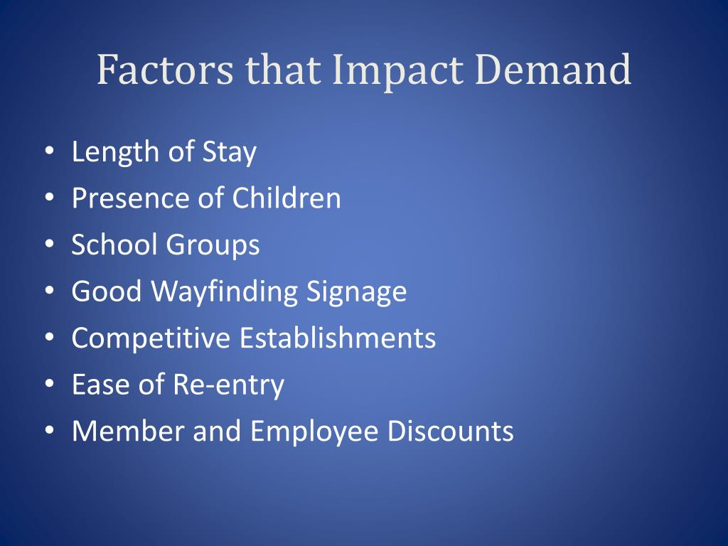 Factors that Impact Demand